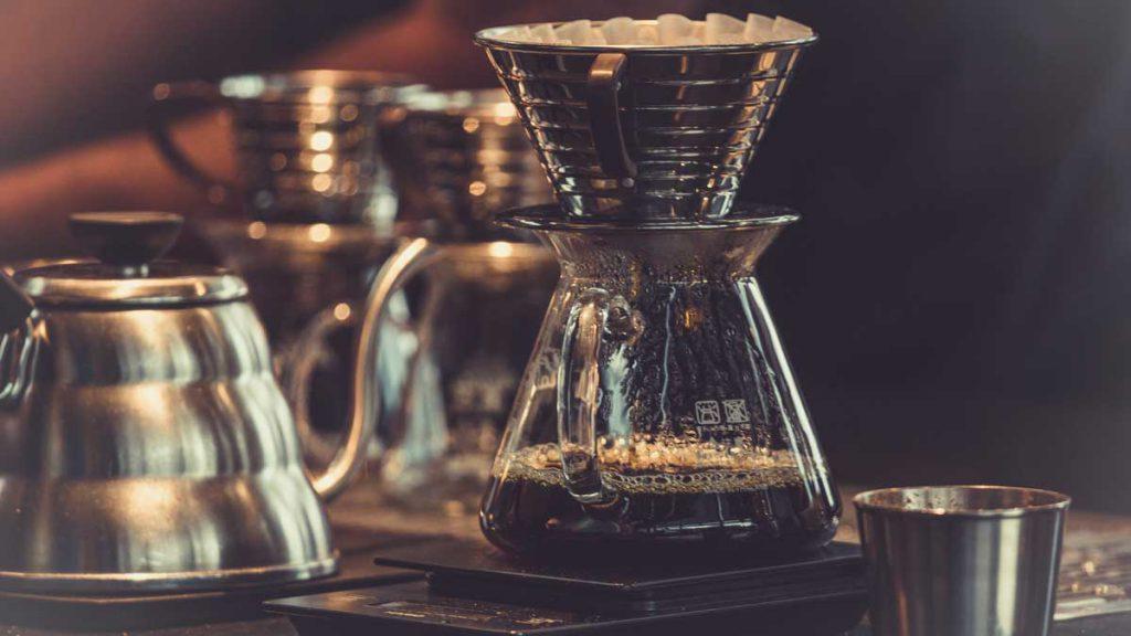 Kaffee Handfilter Wasserkocher