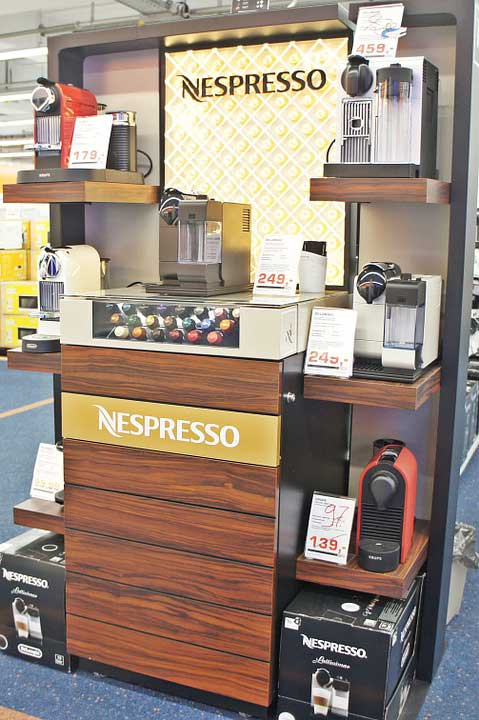 Nespresso Marketing Stand