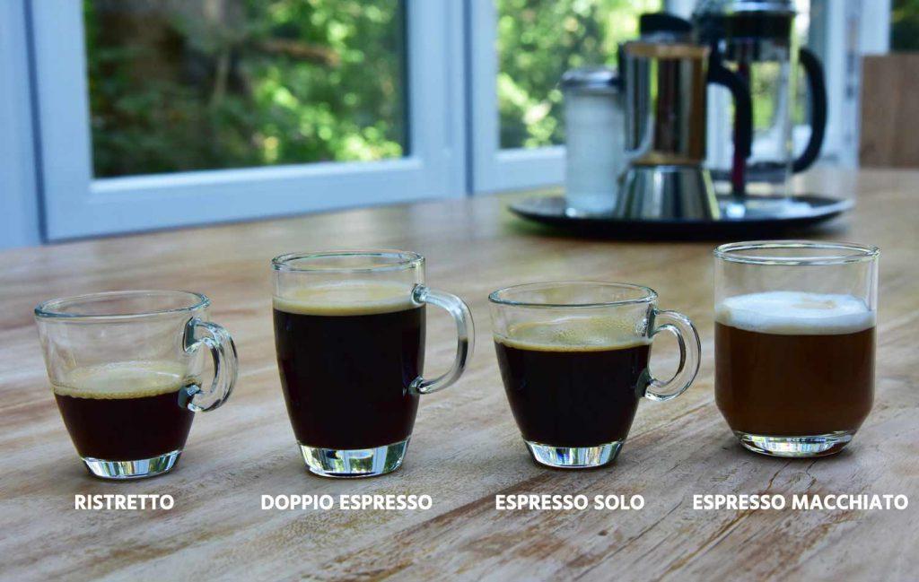 Espressos Varianten Übersicht